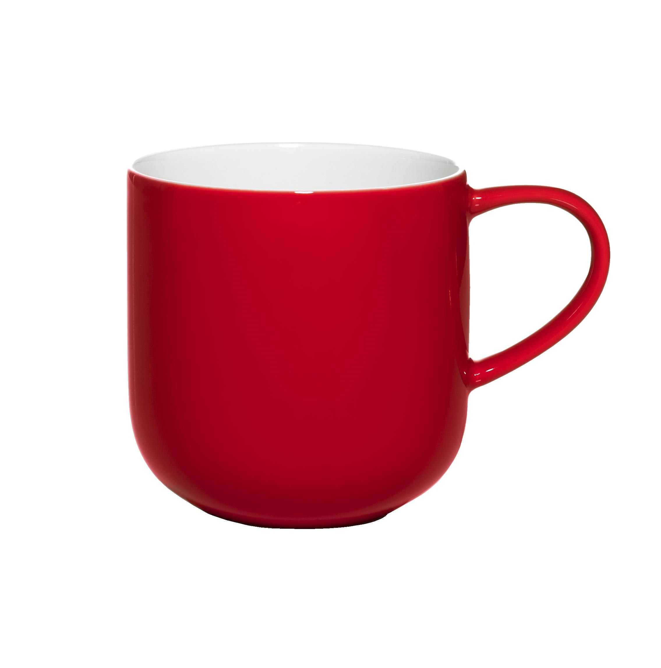 Taza porcelana bone china en color rojo