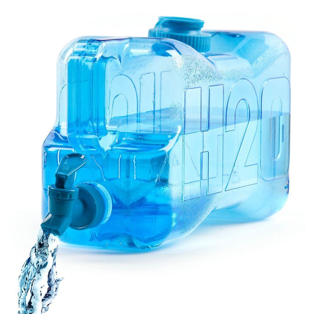 Dispensador de agua transparente 5 litros grifo lateral