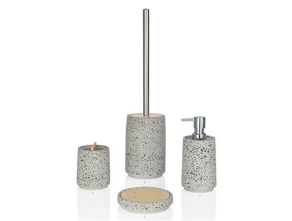 Jabonera madera gris efecto cemento