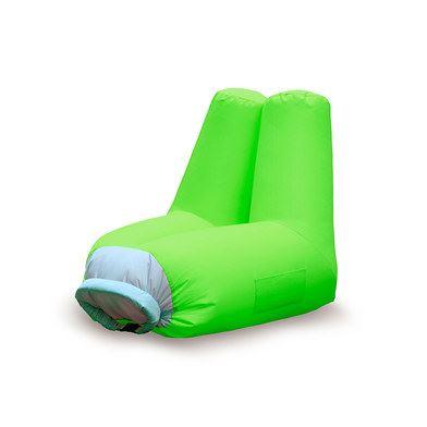 Sillón verde hinchable