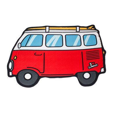 Toalla playa surf furgoneta
