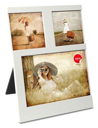 Portafotos 3fotos blanco