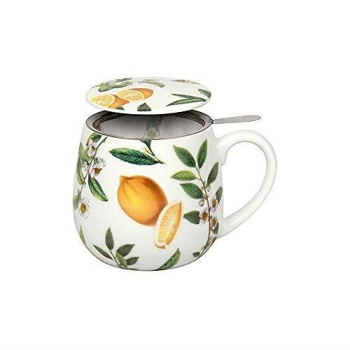Taza con filtro de acero limones