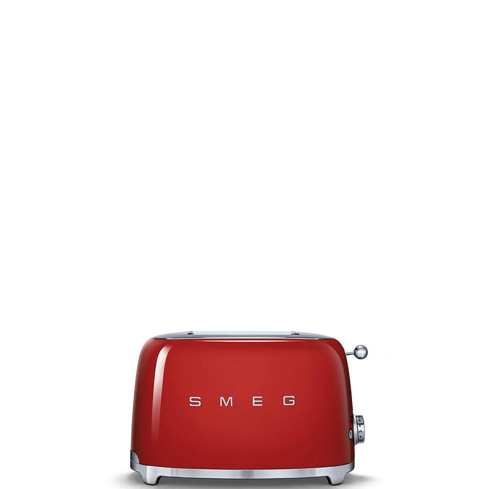 Tostadora en color rojo de 2 tostadas Smeg