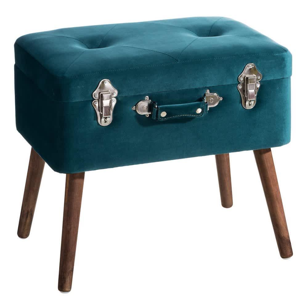 Banqueta baúl azul