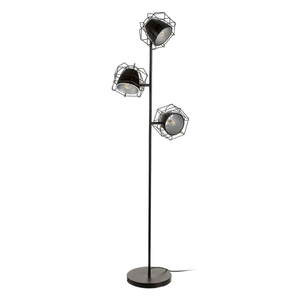 lámpara de suelo en negro