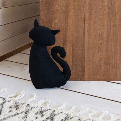 tope de puerta gato negro