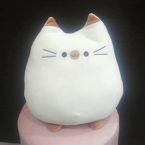 Cojin blanco gatita kitty