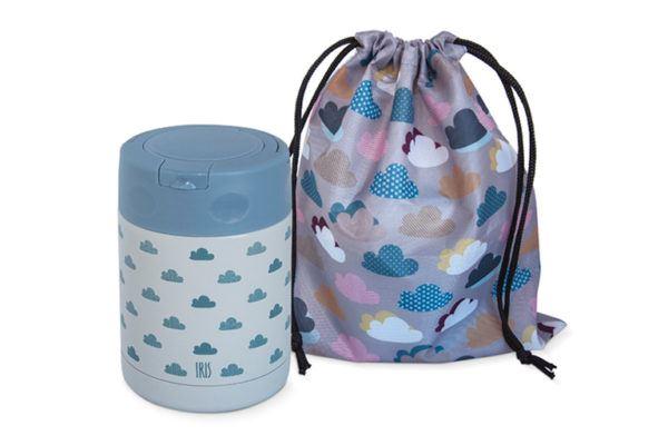 Termo infantil con bolsa saco para llevarlo
