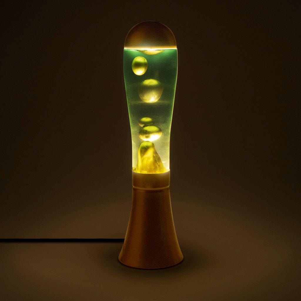 Lámpara con lava en dorado